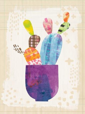 Collage Cactus III on Graph Paper by Melissa Averinos