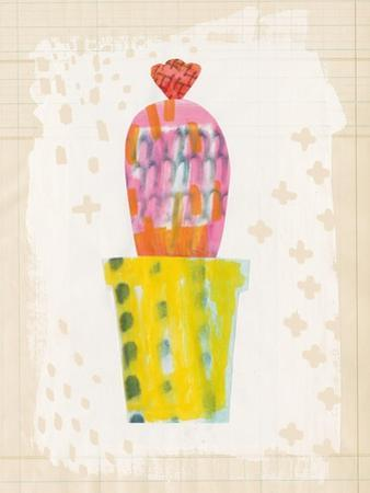 Collage Cactus V on Graph Paper by Melissa Averinos