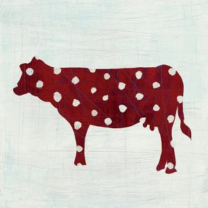 Modern Americana Farm IV on White by Melissa Averinos