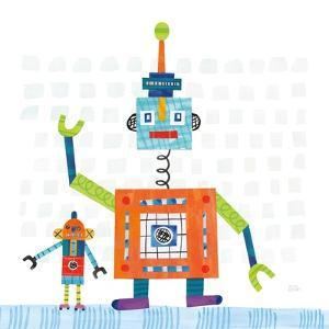 Robot Party III on Square Toys by Melissa Averinos