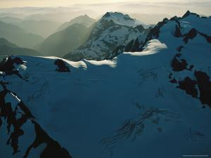 Mount Olympus and Other Snow-Capped Peaks in the Olympic Mountains by Melissa Farlow