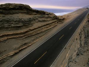 Pan American Highway Running Along Peru's Pacific Coast by Melissa Farlow