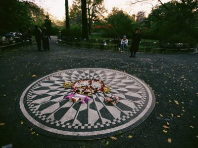 The Imagine Mosaic, a Memorial to John Lennon in Strawberry Fields by Melissa Farlow