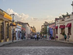Evening street scene, Oaxaca, Mexico, North America by Melissa Kuhnell
