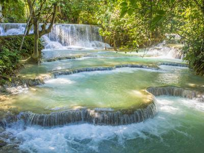 Keang Si waterfalls, near Luang Prabang, Laos, Indochina, Southeast Asia, Asia by Melissa Kuhnell