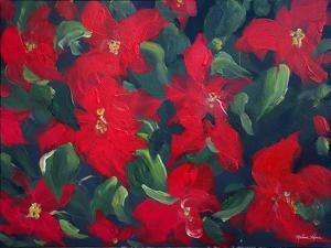 Red Poinsettias by Melissa Lyons