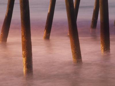 Bogie Inlet Fishing Pier in Emerald Isle, North Carolina at Sunrise