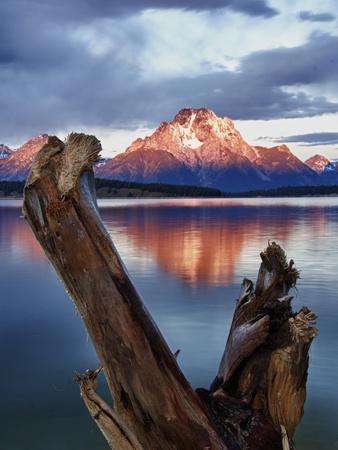 Mount Moran at Jackson Lake from Jackson Lake Dam in Grand Teton National Park, Wyoming