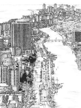 B&W Us Cityscape-Miami by Melissa Wang