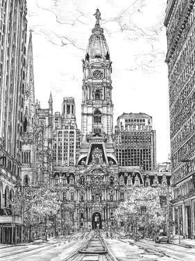 B&W Us Cityscape-Philadelphia by Melissa Wang