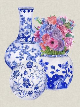 Delft Blue Vases II by Melissa Wang