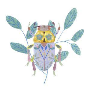 Floral Beetles III by Melissa Wang