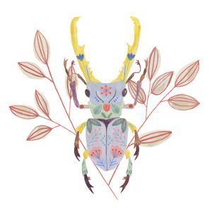 Floral Beetles V by Melissa Wang