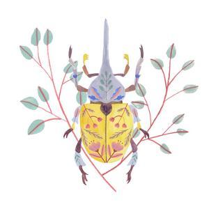 Floral Beetles VI by Melissa Wang