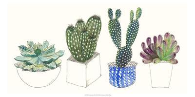 Four Succulents II by Melissa Wang