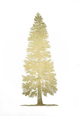 Gold Foil Pacific Northwest Tree I by Melissa Wang