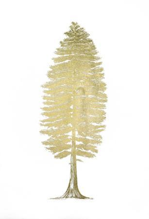 Gold Foil Pacific Northwest Tree II by Melissa Wang