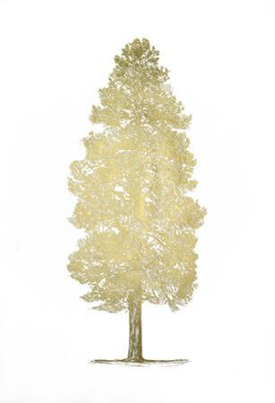 Gold Foil Pacific Northwest Tree III by Melissa Wang