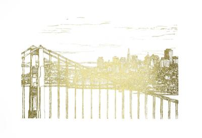 Gold Foil Skyline Sketch by Melissa Wang