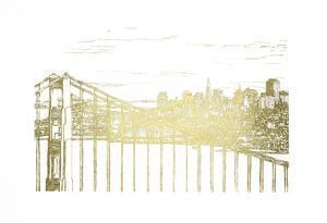 Gold Foil Skyline Sketch by Melissa Wang