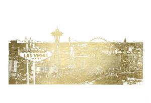 Gold Foil Vegas Skyline by Melissa Wang