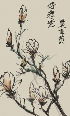 Mandarin Magnolia I by Melissa Wang