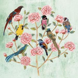 Minty Chinoiserie I by Melissa Wang