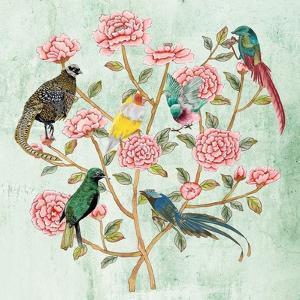 Minty Chinoiserie II by Melissa Wang
