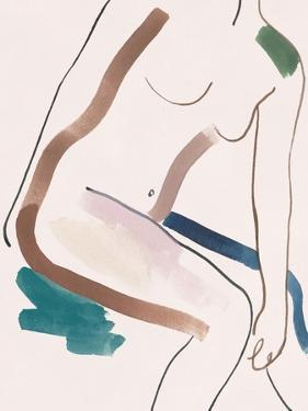 Seated Female Figure III by Melissa Wang