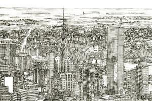 Skyline Sketch I by Melissa Wang
