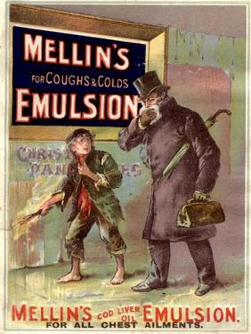 Mellin's Emulsion Coughs, Colds and Flu Medicine, UK, 1890