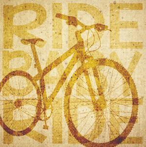Bike Canvas 1 by Melody Hogan
