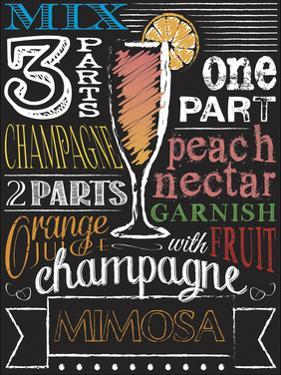 Chalkboard Bar Champagne by Melody Hogan