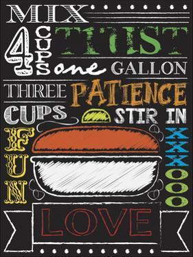 Chalkboard Kitchen Art 4 by Melody Hogan