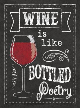 Chalkboard Wine Glass by Melody Hogan