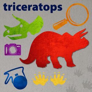 Dinosaur triptych primary 02 by Melody Hogan