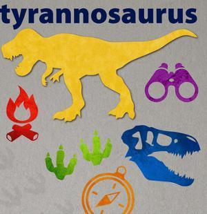 Dinosaur triptych primary 03 by Melody Hogan