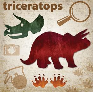 Dinosaur triptych by Melody Hogan