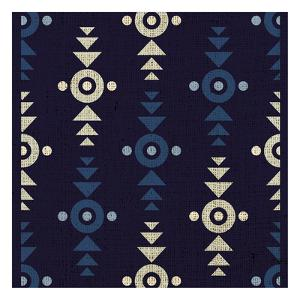 Indigo Squares Crosshairs by Melody Hogan