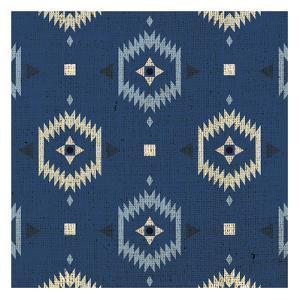 Indigo Squares Droplets by Melody Hogan