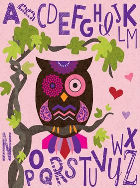 Owl Set Numlet Pinks 1 by Melody Hogan