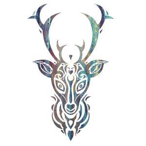 Tribal Buck 3 by Melody Hogan