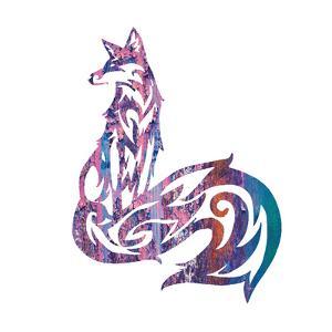 Tribal Fox 1 by Melody Hogan