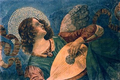 An Angel Playing the Lute, 15th Century