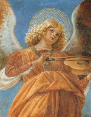 Angel with Violin by Melozzo da Forlí