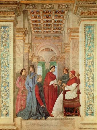 Pope Sixtus IV Installs Bartolommeo Platina as Director of the Vatican Library, C. 1477