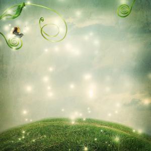 Fantasy Landscape with Small Snail by Melpomene