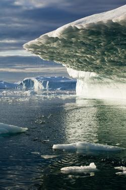 Melting Icebergs in Disko Bay in Greenland