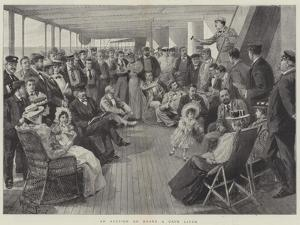 An Auction on Board a Cape Liner by Melton Prior