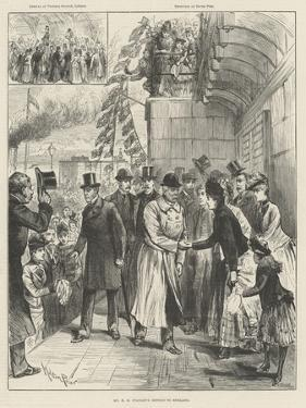 Mr H M Stanley's Return to England by Melton Prior